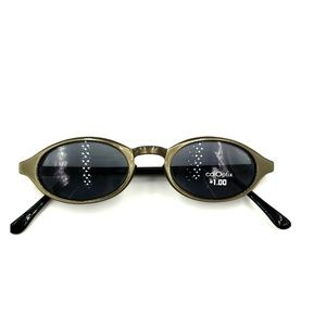 calOptix Gray Oval Sunglasses Frames